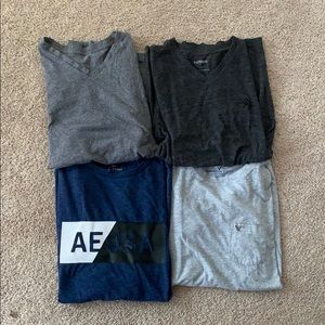 Four American eagle men's tee shirts
